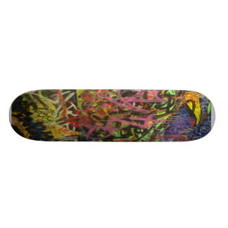 Pintada colorida del garabato skate boards