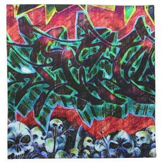 Pintada de 5 cráneos de Pointz Nueva York Servilletas De Papel