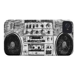 Pintada de Boombox iPhone 4 Carcasa