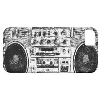 Pintada de Boombox iPhone 5 Carcasas