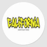 Pintada de California Etiqueta Redonda