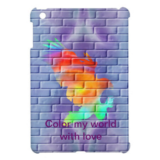 Pintada de Eagle en la pared de ladrillo iPad Mini Cárcasa