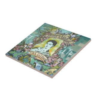 Pintada de Frida Kahlo Azulejo Cuadrado Pequeño