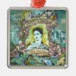 Pintada de Frida Kahlo Ornamento Para Arbol De Navidad