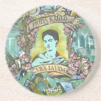 Pintada de Frida Kahlo Posavaso Para Bebida