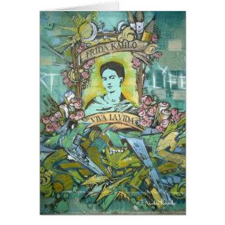 Pintada de Frida Kahlo Tarjetón