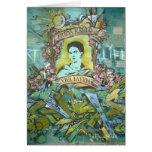 Pintada de Frida Kahlo Tarjeta De Felicitación