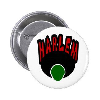 Pintada de Harlem con la cara y el Afro grande, 3  Pin Redondo De 2 Pulgadas