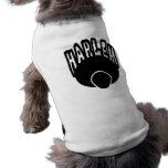 Pintada de Harlem que crece fuera de Afro grande c Camiseta De Mascota