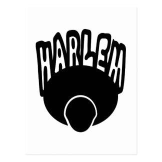 Pintada de Harlem que crece fuera de Afro grande Postal