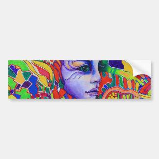 Pintada de la cara de la mujer colorida en Vinnits Pegatina Para Auto