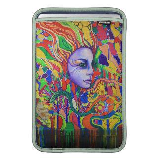 Pintada de la cara de la mujer colorida en Vinnits Fundas MacBook