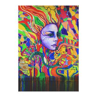 Pintada de la cara de la mujer colorida en Vinnits Impresiones En Lona Estiradas