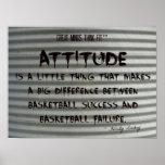Pintada de la cita del baloncesto en el hierro aca posters