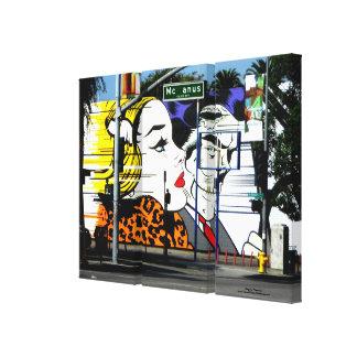 Pintada de la foto 8 en color lona estirada galerías