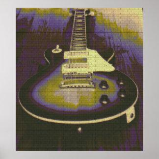 Pintada de la guitarra póster