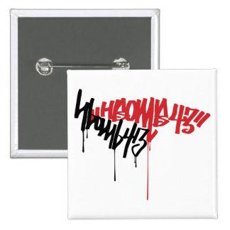 Pintada de la H-Bomba Pin Cuadrado