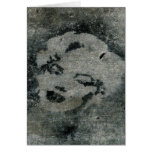 Pintada de la plantilla de Marilyn en colada Tarjetón