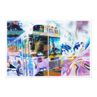 Pintada de las calles de San Francisco del autobús Impresiones En Lona