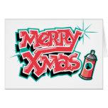 Pintada de las Felices Navidad Tarjetón