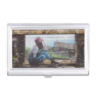Pintada de las memorias de la niñez caja de tarjetas de visita