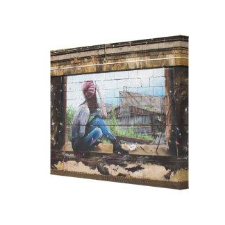 Pintada de las memorias de la niñez lienzo envuelto para galerías