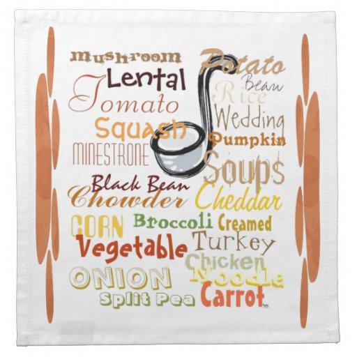 Pintada de las sopas (calabaza) servilletas imprimidas