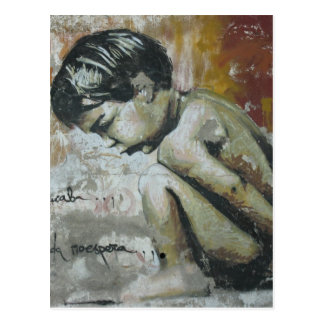 Pintada de Little Boy Postal