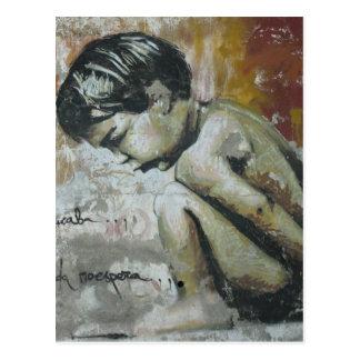 Pintada de Little Boy Postales