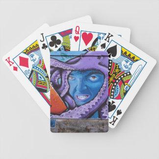 Pintada de los tentáculos del dolor barajas de cartas