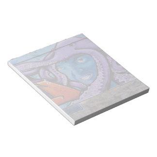 Pintada de los tentáculos del dolor bloc de papel