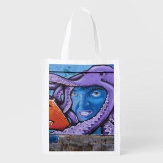 Pintada de los tentáculos del dolor bolsa reutilizable
