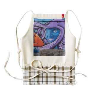 Pintada de los tentáculos del dolor delantal zazzle HEART