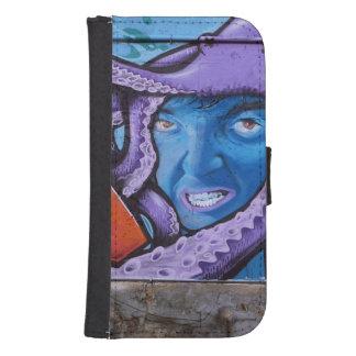 Pintada de los tentáculos del dolor funda billetera para teléfono