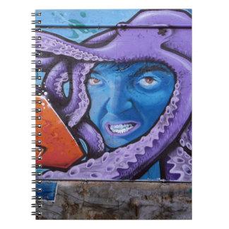 Pintada de los tentáculos del dolor libro de apuntes