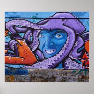 Pintada de los tentáculos del dolor póster