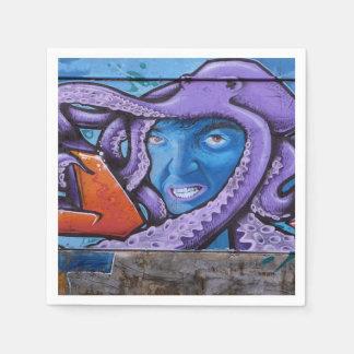 Pintada de los tentáculos del dolor servilletas de papel