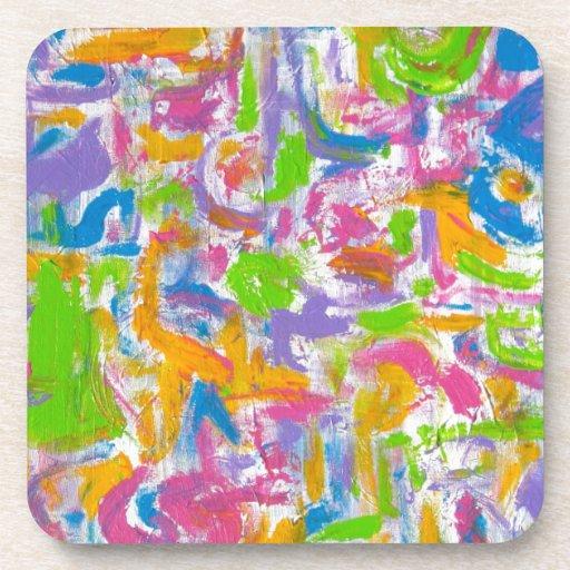 Pintada de neón - arte abstracto posavasos