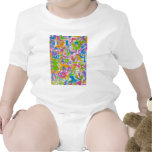 Pintada de neón - arte abstracto trajes de bebé