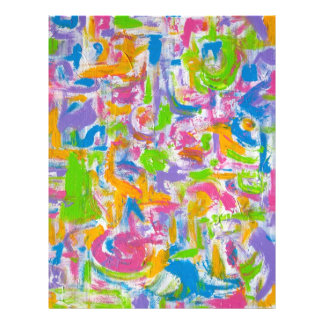 """Pintada de neón - pinceladas del arte abstracto folleto 8.5"""" x 11"""""""