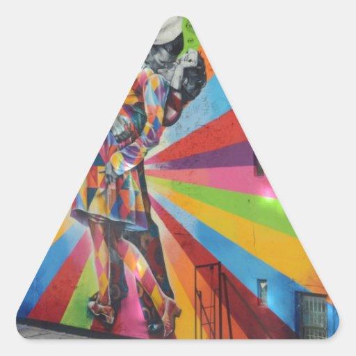 Pintada de Nueva York Calcomanías Trianguladas Personalizadas