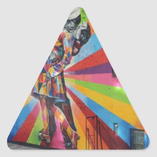 Pintada de Nueva York Pegatina Triangular