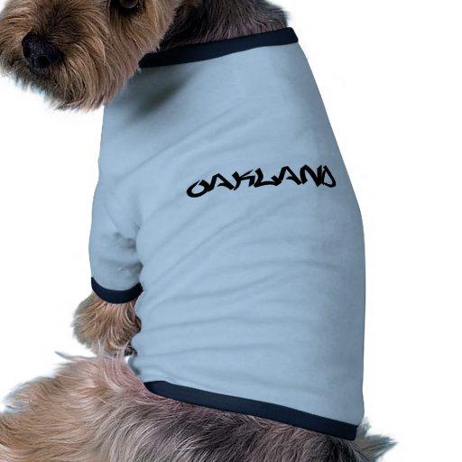 Pintada de Oakland Camiseta Con Mangas Para Perro