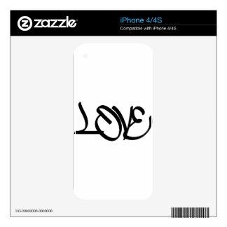 Pintada del amor iPhone 4 calcomanía