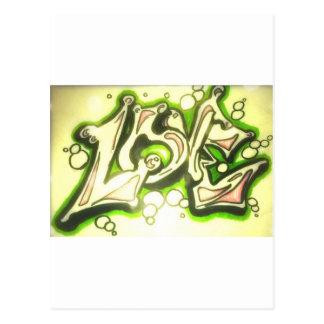 Pintada del amor postales