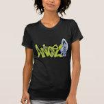 Pintada del ángel camisetas