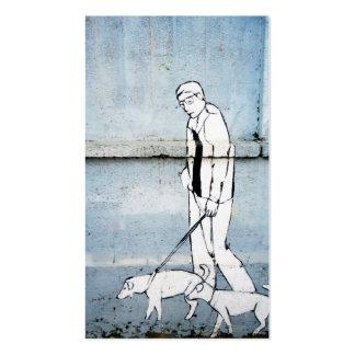pintada del caminante del perro tarjetas de visita