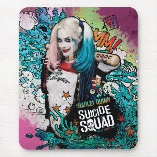 Pintada del carácter del pelotón el | Harley Quinn Alfombrillas De Raton
