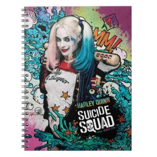 Pintada del carácter del pelotón el | Harley Quinn Libros De Apuntes