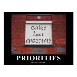 Pintada del chocolate del amor de la torta postales